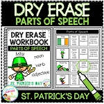 Dry Erase Parts of Speech Workbook: St. Patrick's Day ~Digital Download~